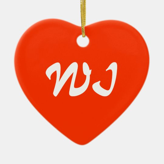 Wisconsin Heart Ornament
