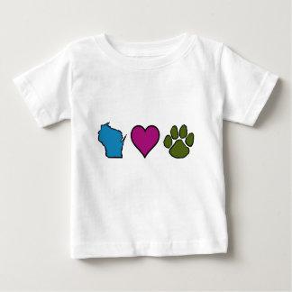 Wisconsin Hearts Animals Baby T-Shirt