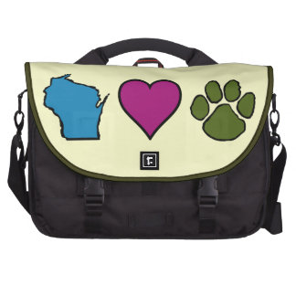 Wisconsin Hearts Animals Bag For Laptop