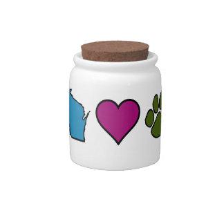 Wisconsin Hearts Animals Candy Jars
