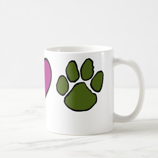 Wisconsin Hearts Animals Coffee Mug