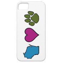 Wisconsin Hearts Animals iPhone SE/5/5s Case