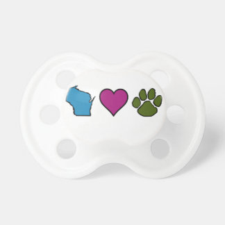Wisconsin Hearts Animals Pacifier