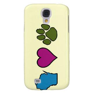 Wisconsin Hearts Animals Samsung Galaxy S4 Cases