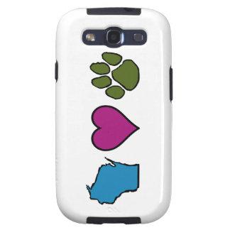 Wisconsin Hearts Animals Samsung Galaxy SIII Case