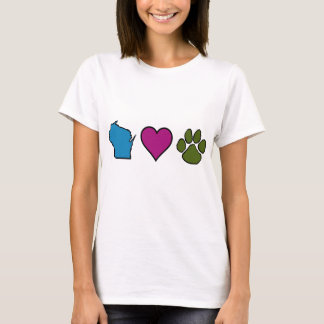 Wisconsin Hearts Animals T-Shirt