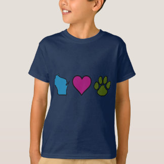 Wisconsin Hearts Animals T-Shirt