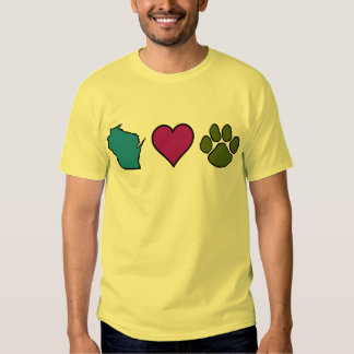 Wisconsin Hearts Animals Tshirt