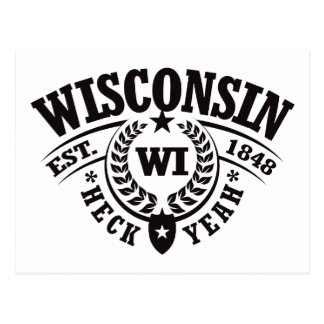 Wisconsin, Heck Yeah, Est. 1848 Postcard