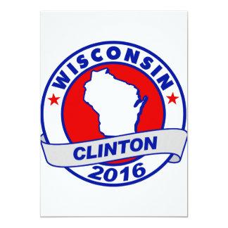 "Wisconsin Hillary Clinton 2016.png Invitación 5"" X 7"""