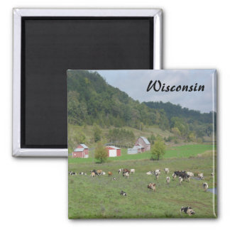 Wisconsin Hills 2 Inch Square Magnet