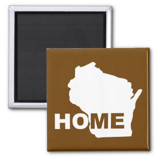 Wisconsin Home Away From State Fridge Magnet