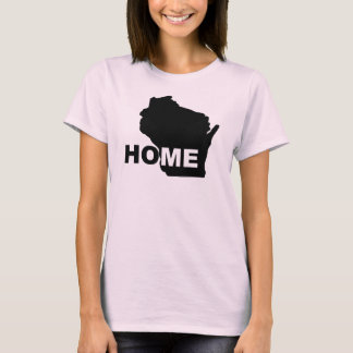 Wisconsin Home Away From State T-Shirt Tees