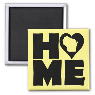 Wisconsin Home Heart State Fridge Magnet
