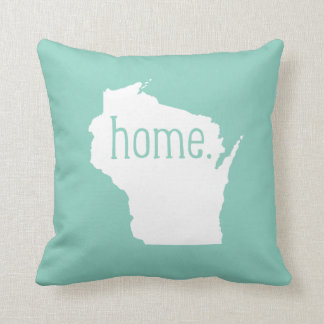 Wisconsin Home State Throw Pillow