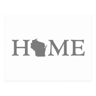 Wisconsin Home State Word Art Postcard