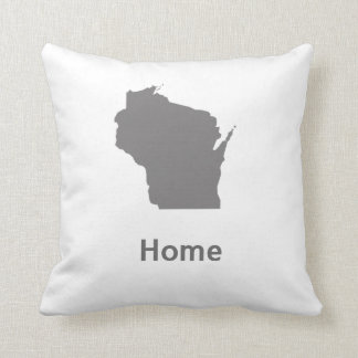 Wisconsin Home Throw Pillow
