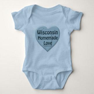 Wisconsin Homemade Love Blue Intant Creeper