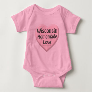 Wisconsin Homemade Love Pink Intant Creeper