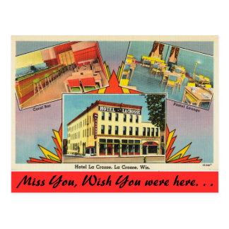 Wisconsin, Hotel LaCrosse, La Crosse Postcard