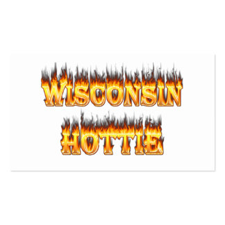 Wisconsin hottie fire and flames business cards