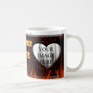 Wisconsin Hottie fire and red marble heart. Mug