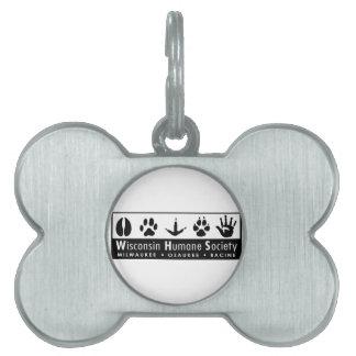 Wisconsin Humane Society Logo Pet Name Tag