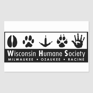 Wisconsin Humane Society Logo Rectangular Sticker