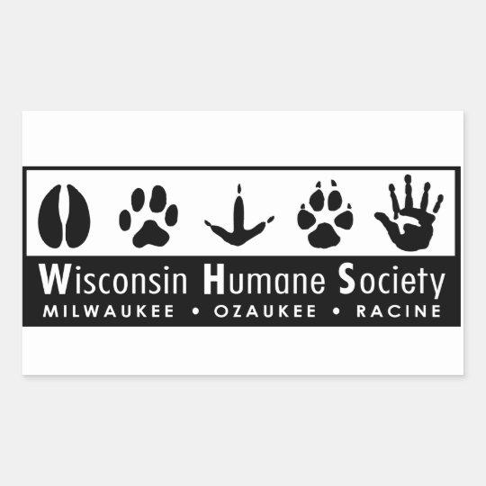 Wisconsin Humane Society Logo Rectangular Sticker