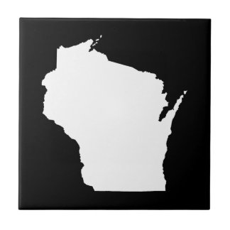 Wisconsin in White Ceramic Tile