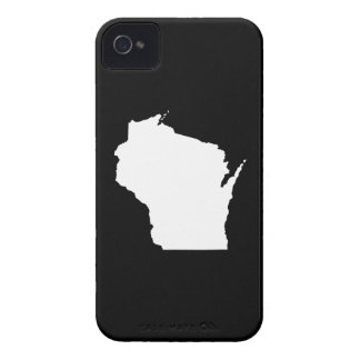 Wisconsin in White iPhone 4 Case