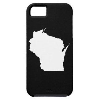 Wisconsin in White iPhone SE/5/5s Case