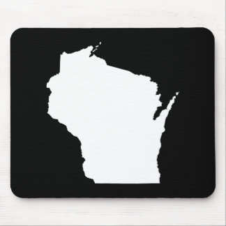 Wisconsin in White Mouse Pad