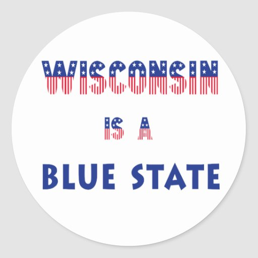 Wisconsin is a Blue State Sticker