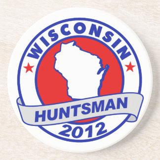 Wisconsin Jon Huntsman Beverage Coasters