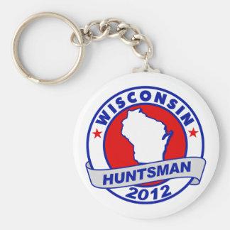 Wisconsin Jon Huntsman Keychains