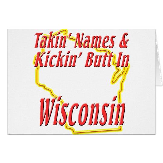Wisconsin - Kickin' Butt Card