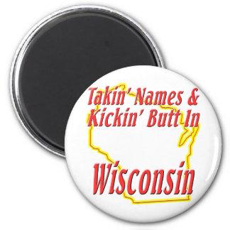Wisconsin - Kickin' Butt Magnet