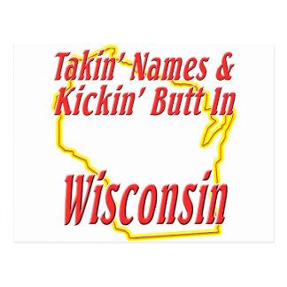 Wisconsin - Kickin' Butt Postcard