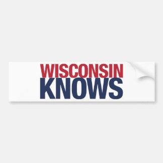 Wisconsin Knows Bumper Sticker