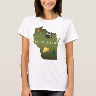 Wisconsin Ladies Baby Doll T-Shirt