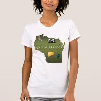 Wisconsin Ladies Scoop-Neck T-Shirt