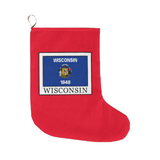 Wisconsin Large Christmas Stocking