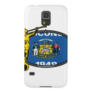Wisconsin LDS Mission Oval no Label Angel Moroni Cases For Galaxy S5
