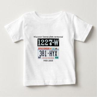 Wisconsin License Plate Centennial Baby T-Shirt