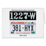 Wisconsin License Plate Centennial Greeting Cards