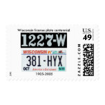 Wisconsin License Plate Centennial Stamps