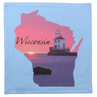Wisconsin Lighthouse Cloth Napkin