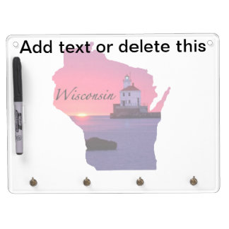Wisconsin Lighthouse Dry Erase Board