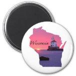 Wisconsin Lighthouse Magnets